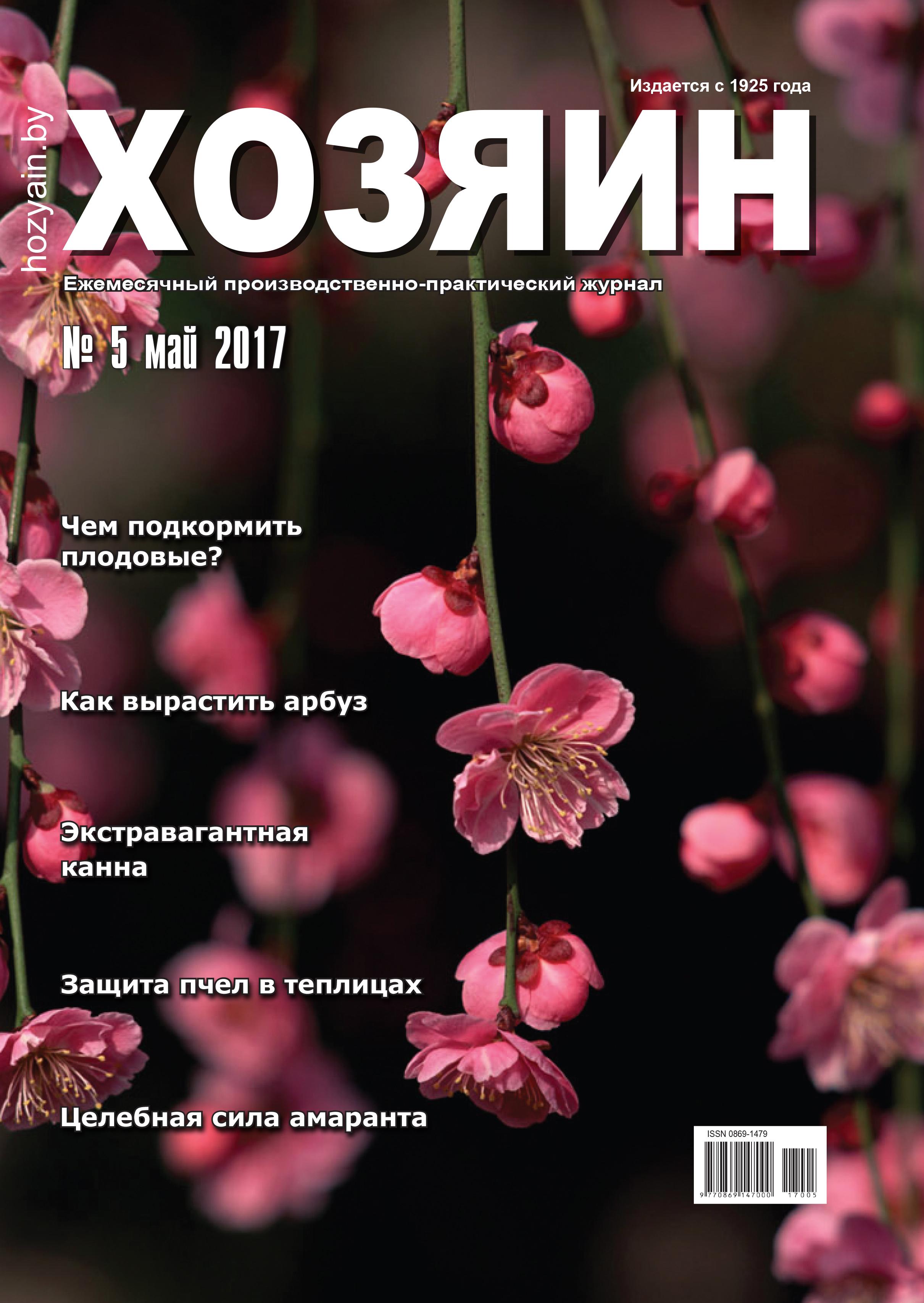 """обложка """"Хозяина"""" май 2017"""