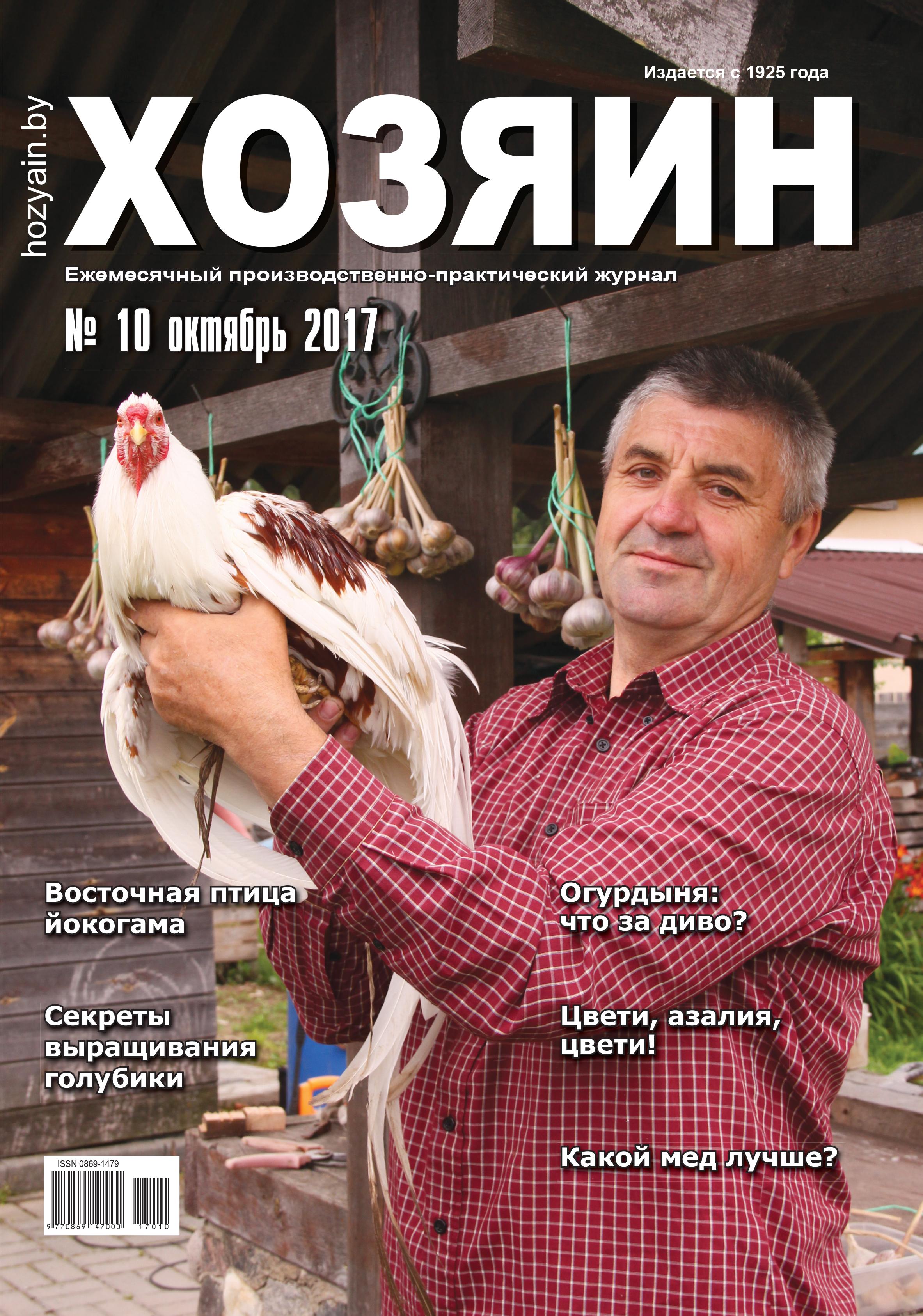 """обложка """"Хозяина"""" октябрь 2017"""