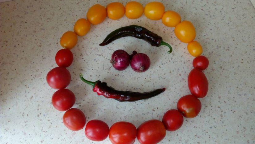 улыбка из овощей от брестчанки Ирины Ивашкевич